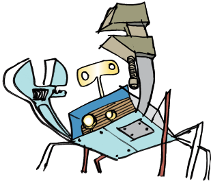 Rerun the Tinker Crab: a Robot? an Abstraction? a Dream?